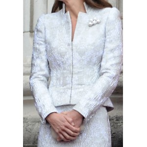 Ice Blue Textured Trooping Suit