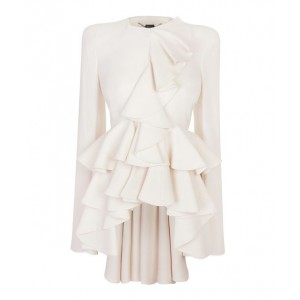 "Modified ""Ivory Wave Ruffle"" Jacket"