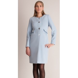 """Natasha"" Misty Blue Maternity Coat"