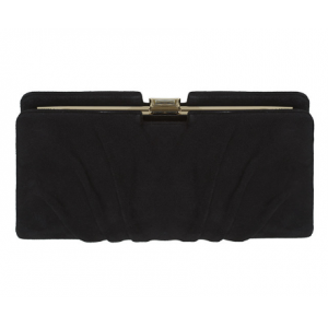 """Roxy"" Black Suede Clutch"