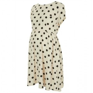 """Florence"" Polka-Dot Maternity Dress"