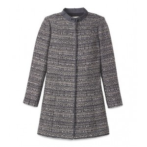 """Bettina"" Metallic Tweed Coat"