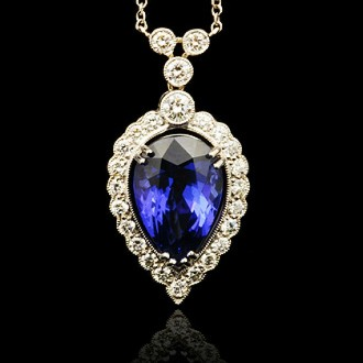 Tanzanite & Diamond Pendant Necklace