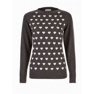 """Delaney"" Heart Sweater Top"