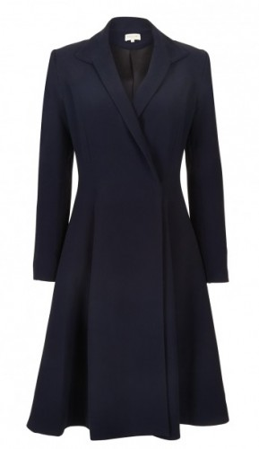 """Chiara"" Wool Trapeze Coat"