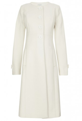 """Princess"" Maternity Coat in Cream"