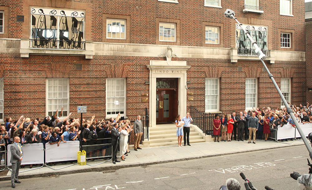 The Duke and Duchess of Cambridge and their baby leave the Lindo Wing