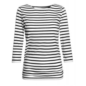 Breton Top in Black & White