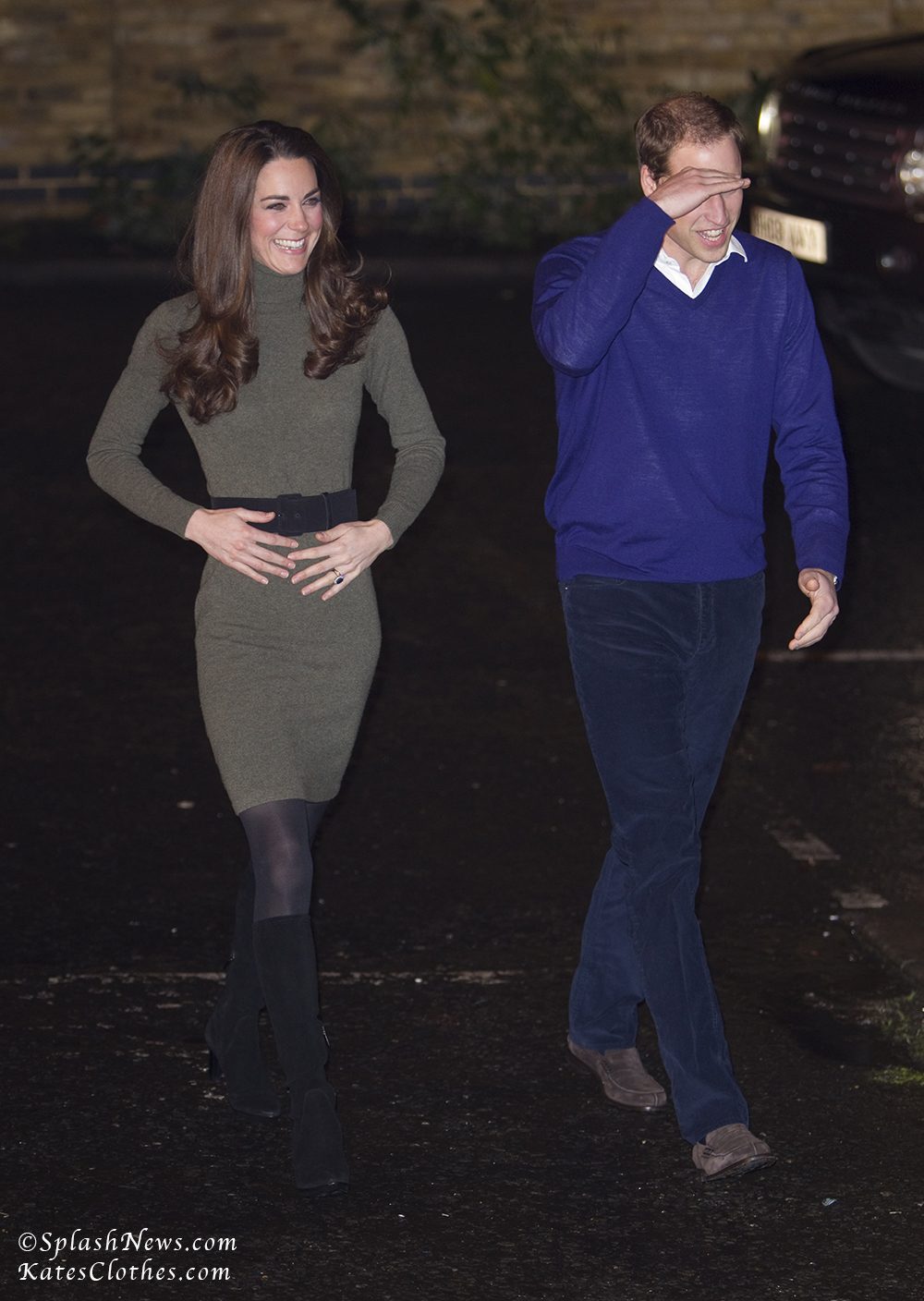 The Duke and Duchess of Cambridge, Prince William and Kate Middleton, pictured visiting Centrepoint charity in Central London