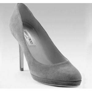 """Aimee"" Pump in Grey Suede"