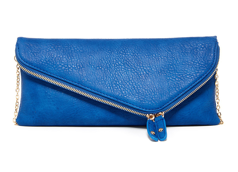 kates clothes blue clutch
