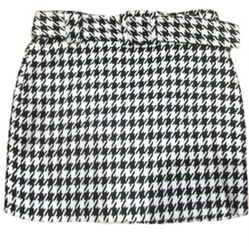 Houndstooth Mini-Skirt