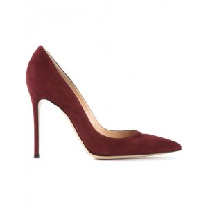 """Gianvito"" Burgundy Pumps"