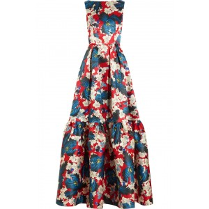 """Alouette"" Ohana Print Evening Dress"