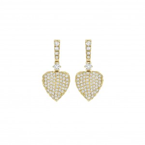 Lauren Yellow Gold Leaf Earrings
