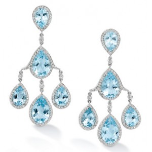 Blue Topaz Chandelier Earrings