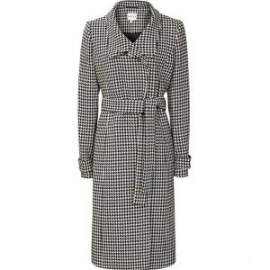 """Rubik"" houndstooth Coat"
