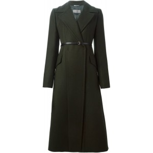 Green Long Belted Coat