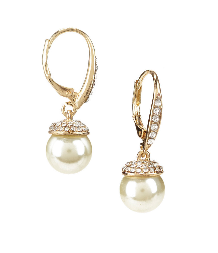 pave diamond pearl drops