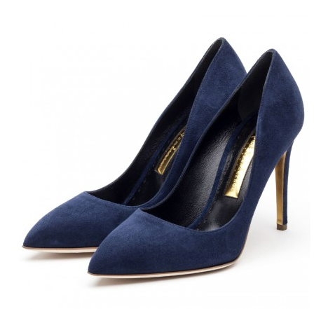 """Malory"" Blue Suede"