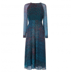 """Addison"" Printed Silk Dress"