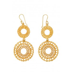 Brora Gold Charm Earrings