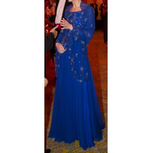 Bespoke Blue Bollywood Gown