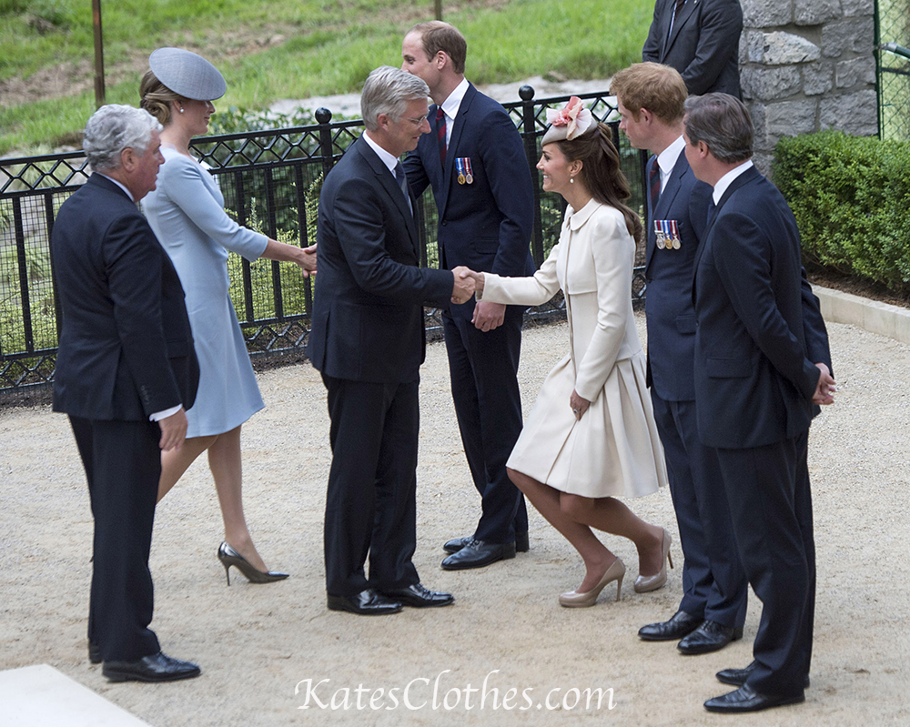 The Duke and Duchess of Cambridge and Prince Harry attend a Commemoration event at Saint Symphorien Military Cemetery