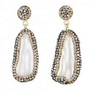 Baroque Pearl Double Sided Earrings