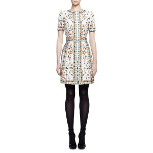 Obsession Print Silk Dress