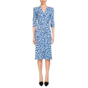 Aimee Polka-Dot Button Front Dress