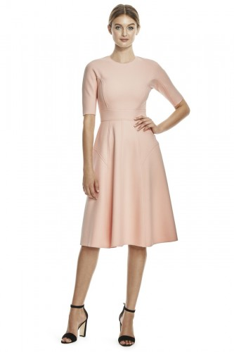 Double Faced Twill Elbow Sleeve Dress