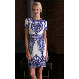 Blue-Stitched Taj Mahal Dress