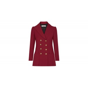Red Twill Military Blazer
