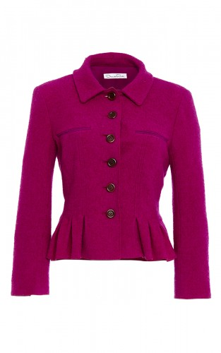 Pleated Wool Jacket