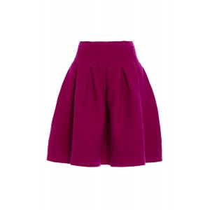 Full Pleated Wool Skirt