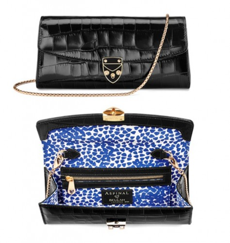Beulah Blue Heart Clutch