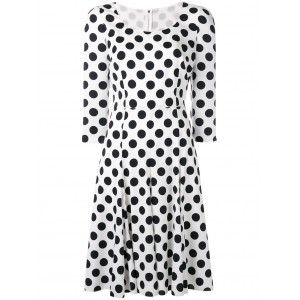 Polka Dotted Cady Dress