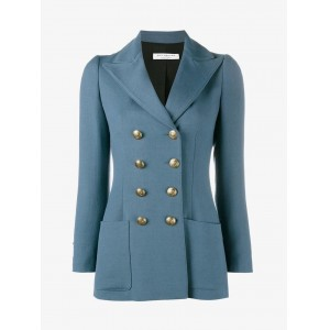 Blue Twill Military Blazer