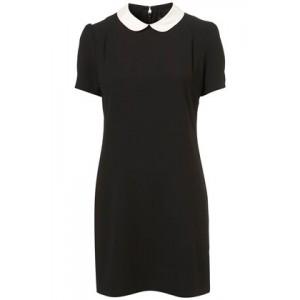 """Contrast Collar"" Sheath Dress"