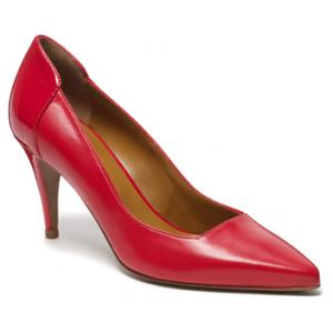 "Red ""Albini"" Square Cut Heels"