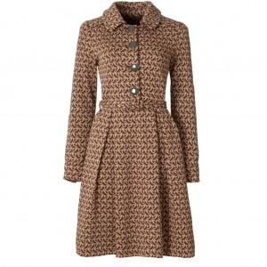 """""""Birdie"""" Wool Jacquard Coat Dress"""