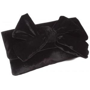 Velvet Bow Clutch