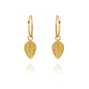 Logo Leaf Earrings