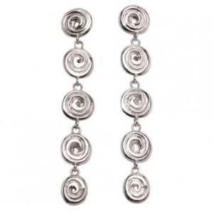 Ndoro Dangle Silver Earrings