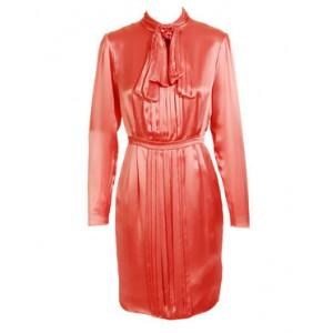 Pleated Pencil Dress