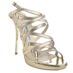 """Dart"" Strappy Glitter Sandals"