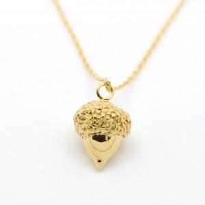 Gold Plated Acorn Pendant