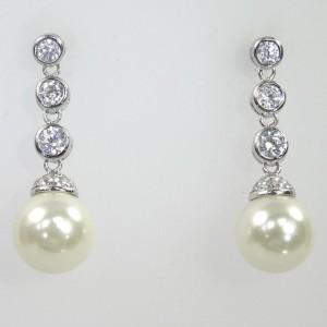 Faux Diamond & Pearl Drops