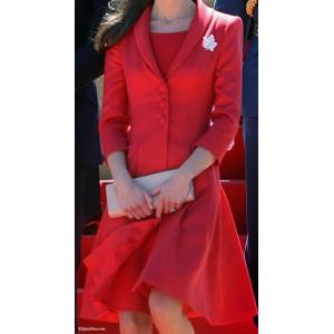 """""""Marianne"""" Scarlet Coatdress"""